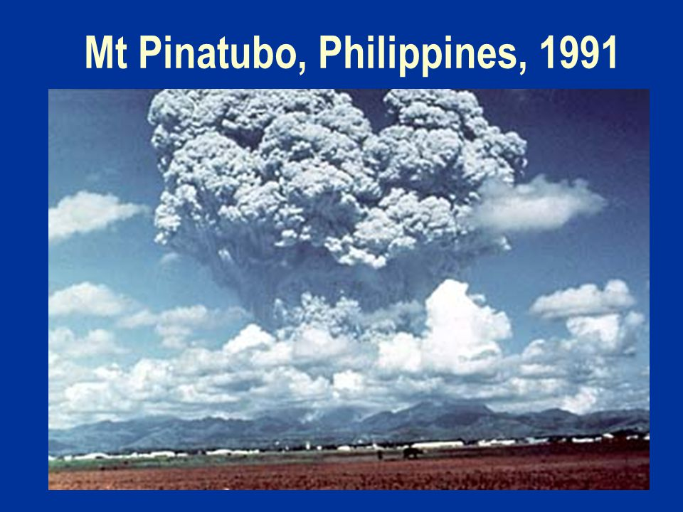 Mt Pinatubo, Philippines, 1991