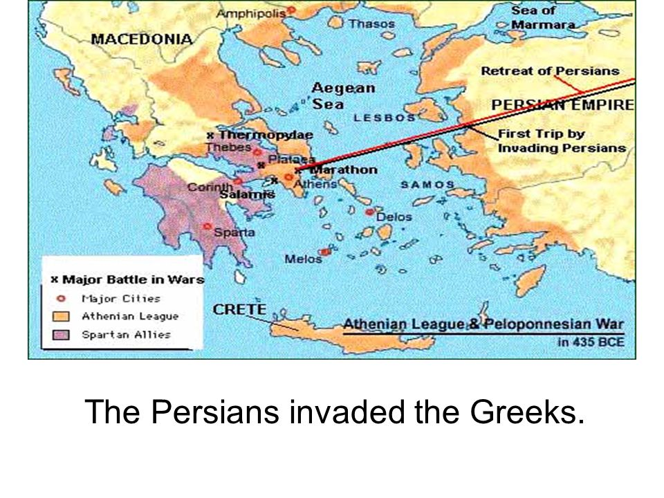 The Persians invaded the Greeks.