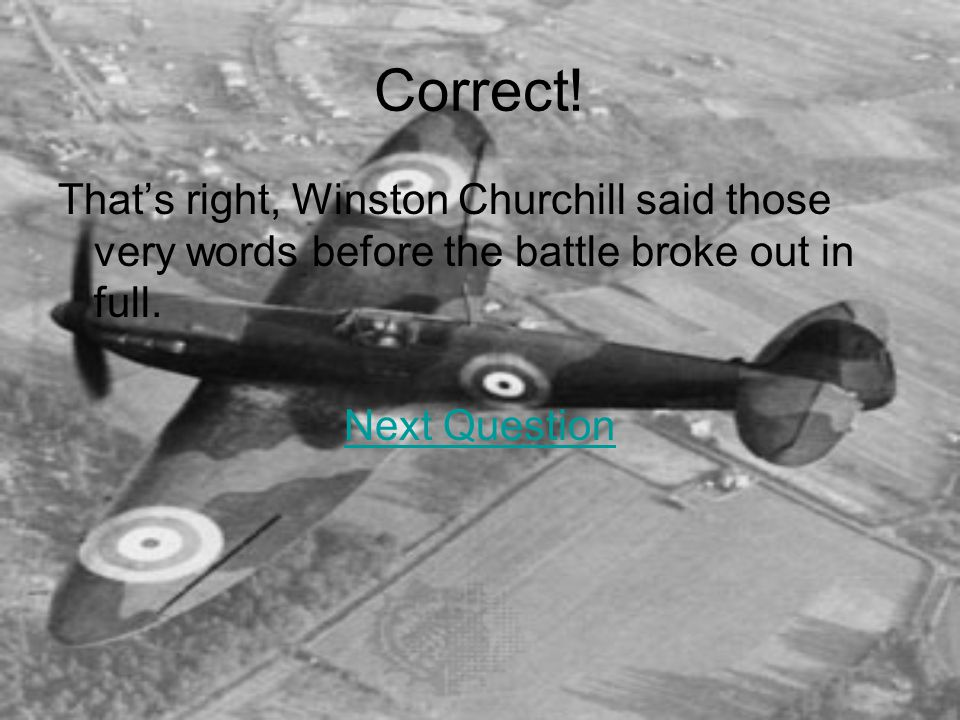Wrong The British air force was known as the RAF or Royal Air Force.