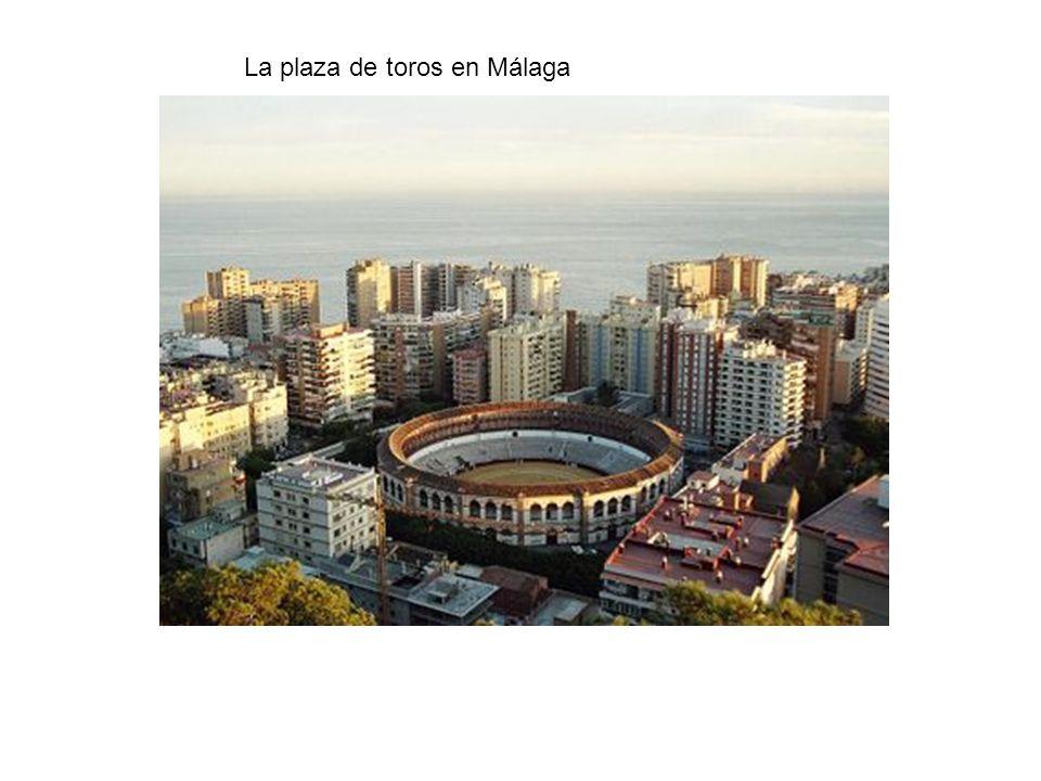La plaza de toros en Málaga