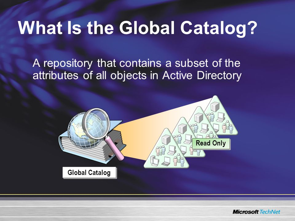 What Is the Global Catalog.