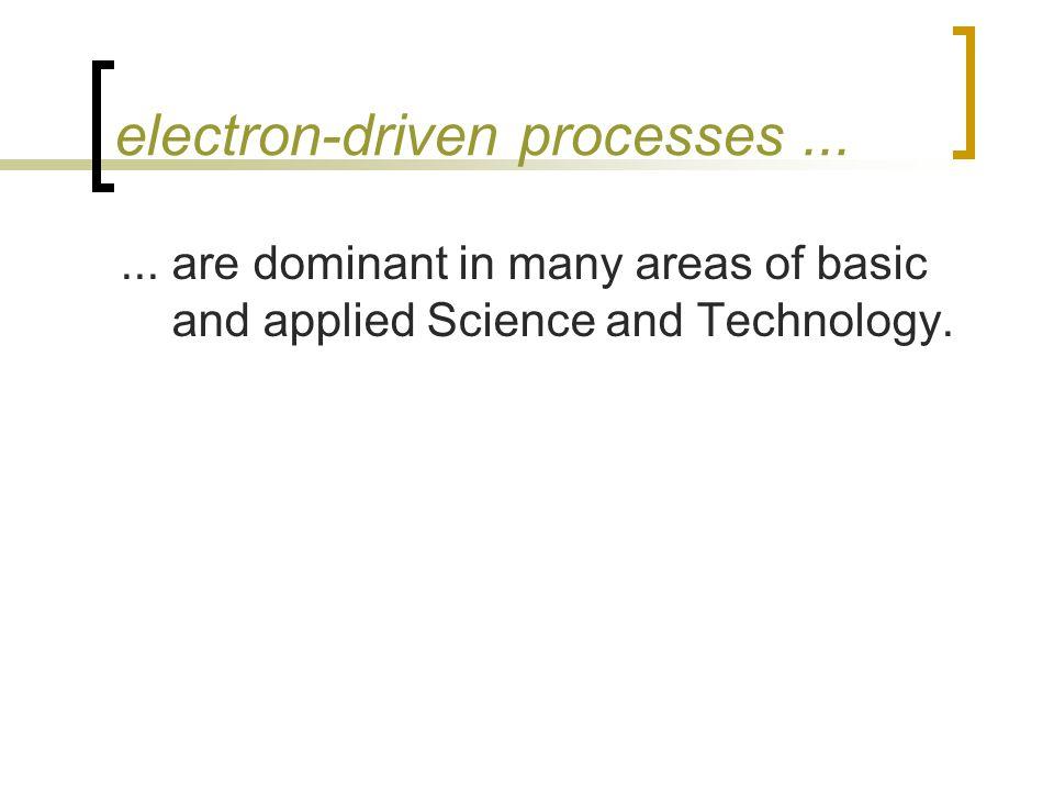 electron-driven processes......
