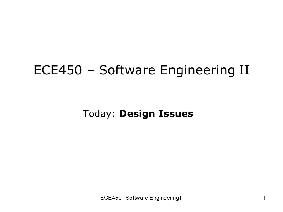 ECE450 - Software Engineering II2 What's wrong with this.