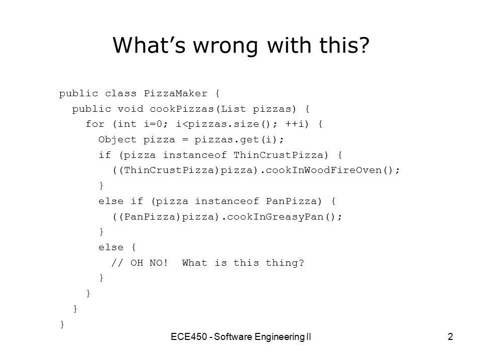 ECE450 - Software Engineering II13 But then...