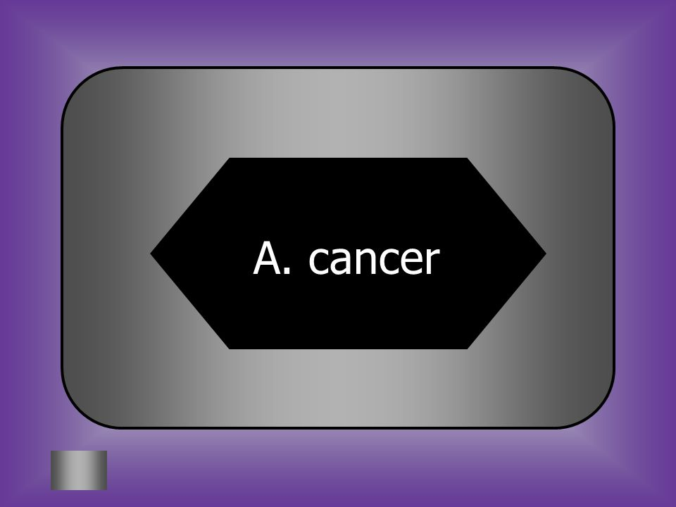 A:B: cancermono 5. Which is an example of a non-communicable disease? C:D: The flu Pink eye
