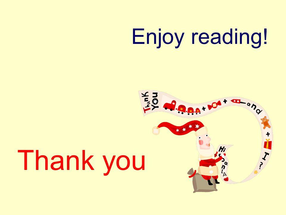Enjoy reading! Thank you