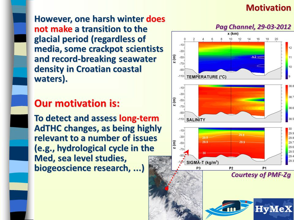 Motivation However, one harsh winter does not make a transition to the glacial period (regardless of media, some crackpot scientists and record-breaking seawater density in Croatian coastal waters).