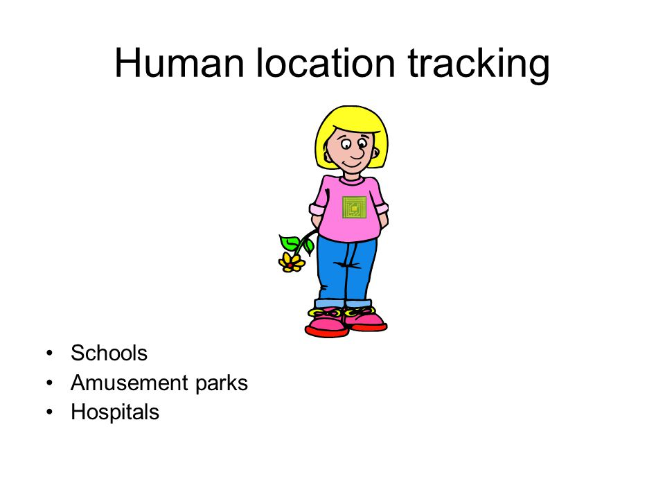 Human location tracking Schools Amusement parks Hospitals