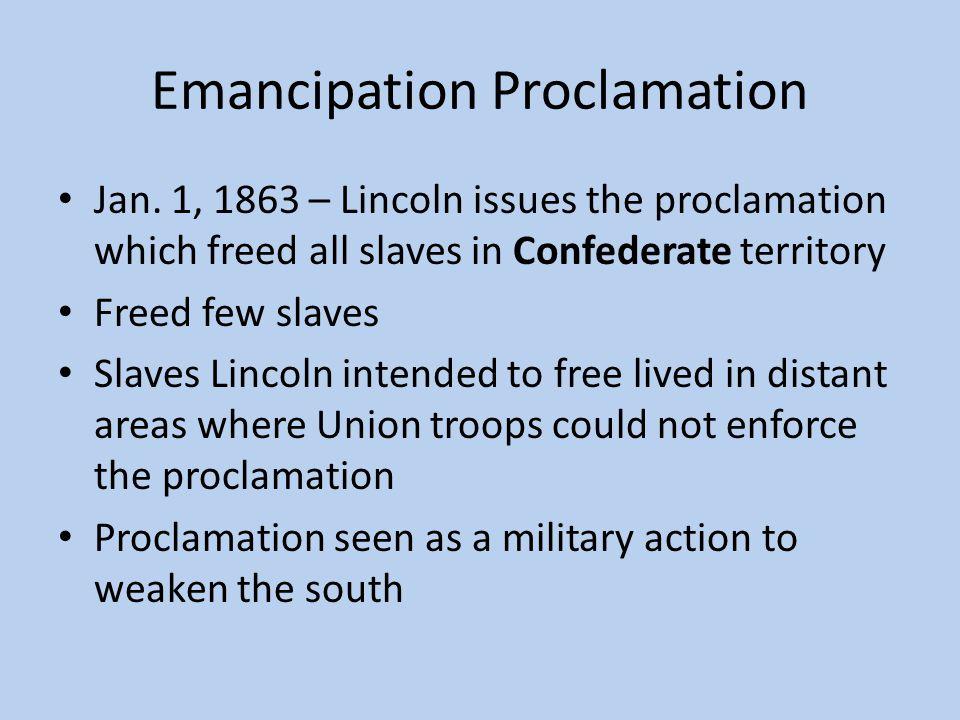 Emancipation Proclamation Jan.
