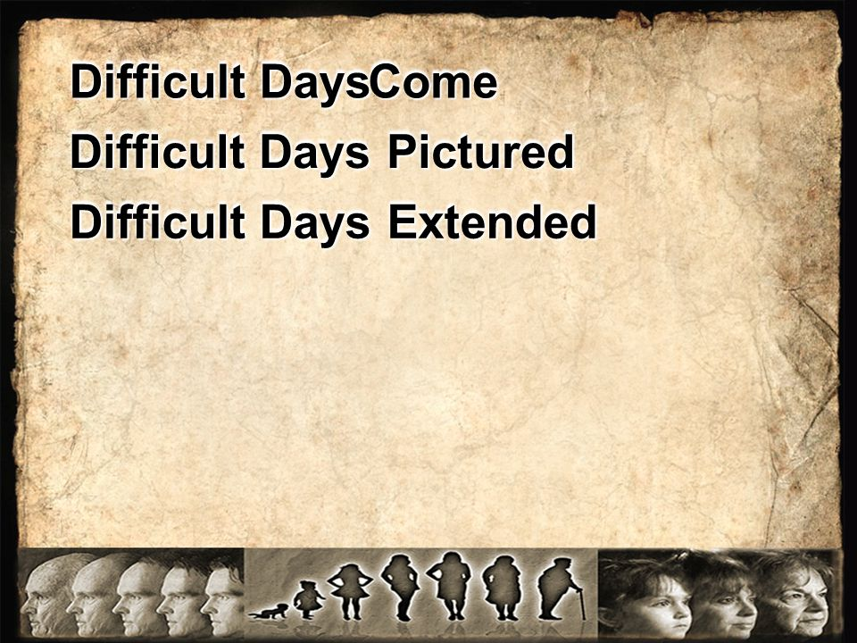Difficult Days Pictured Difficult Days Extended Difficult Days ComeCome