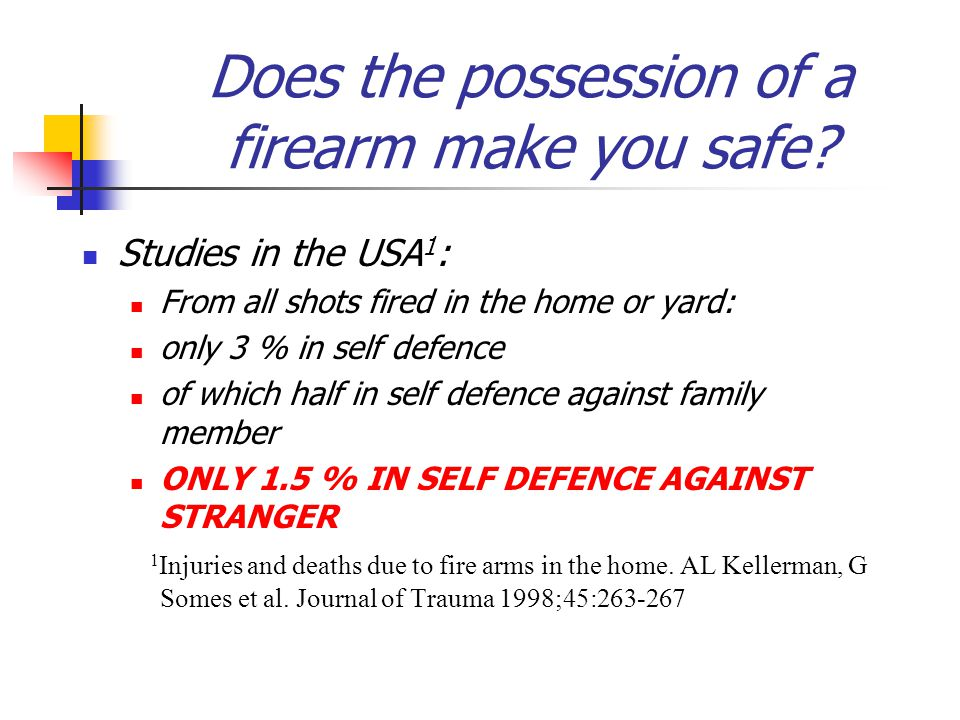 Does the possession of a firearm make you safe.