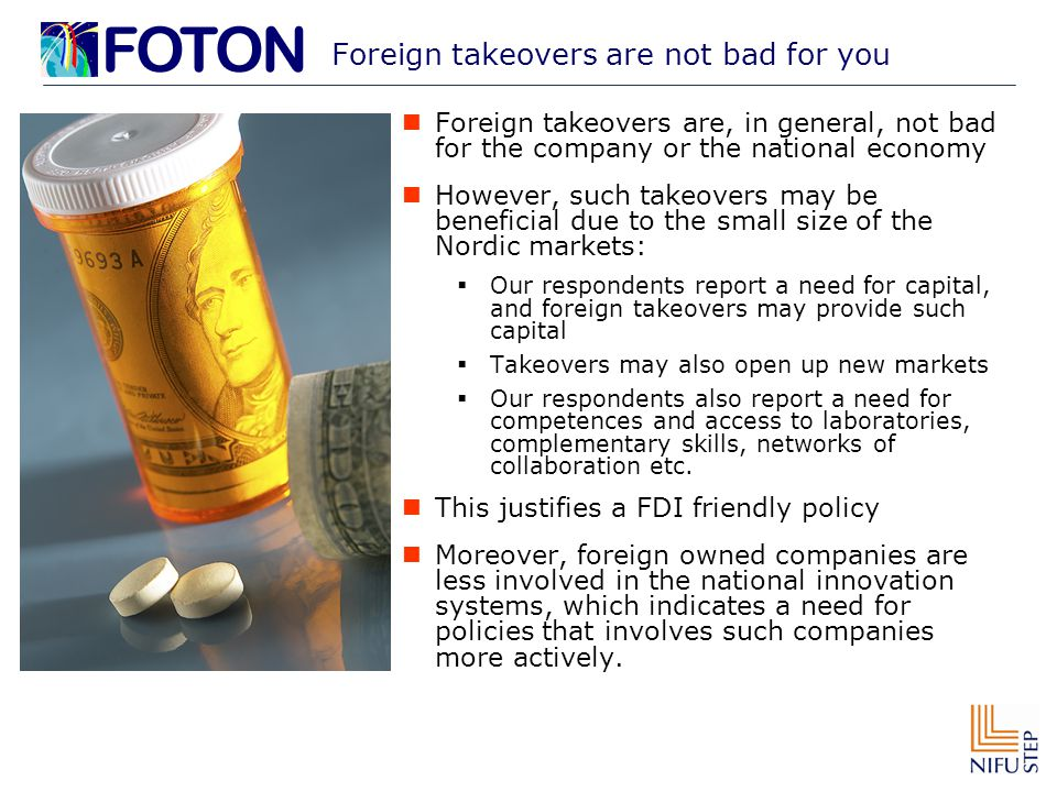 Foreign takeovers are not bad for you Foreign takeovers are, in general, not bad for the company or the national economy However, such takeovers may b