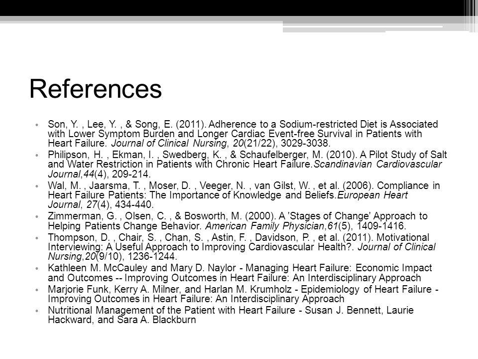 References Son, Y., Lee, Y., & Song, E. (2011).