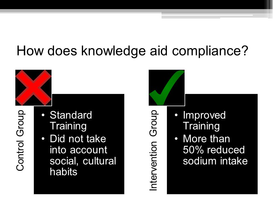 How does knowledge aid compliance.