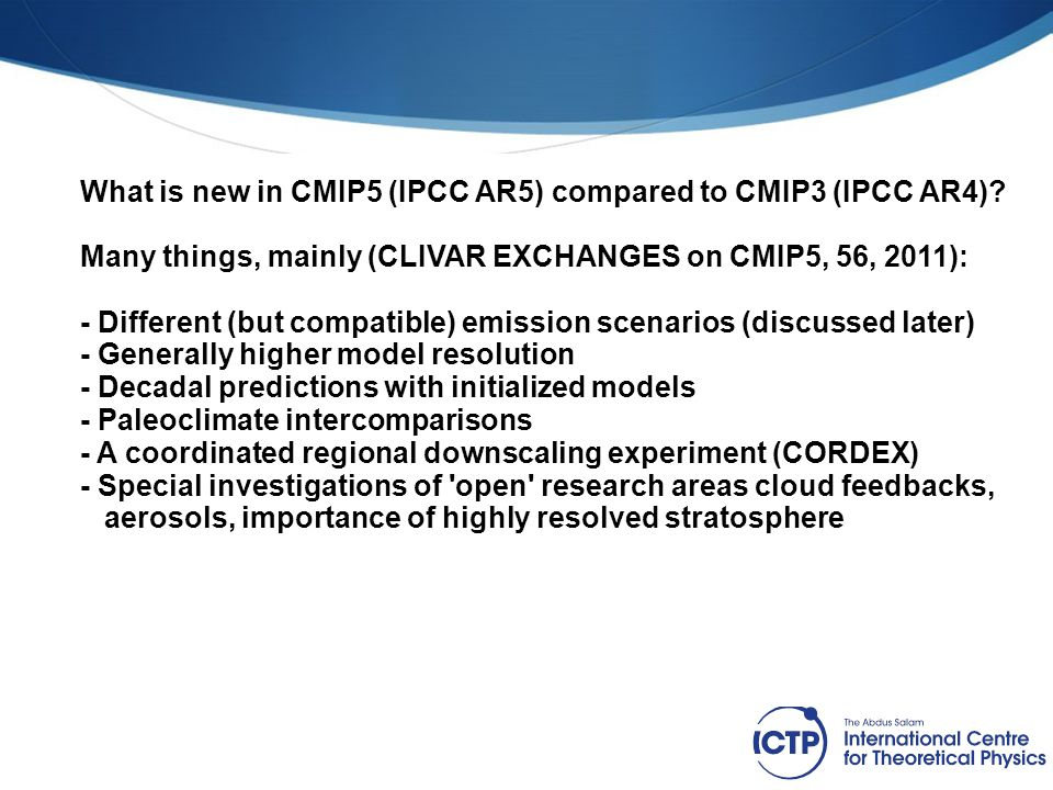 Figure from Knutti et al.(2008) How does CMIP5 projections compare with CMIP3.