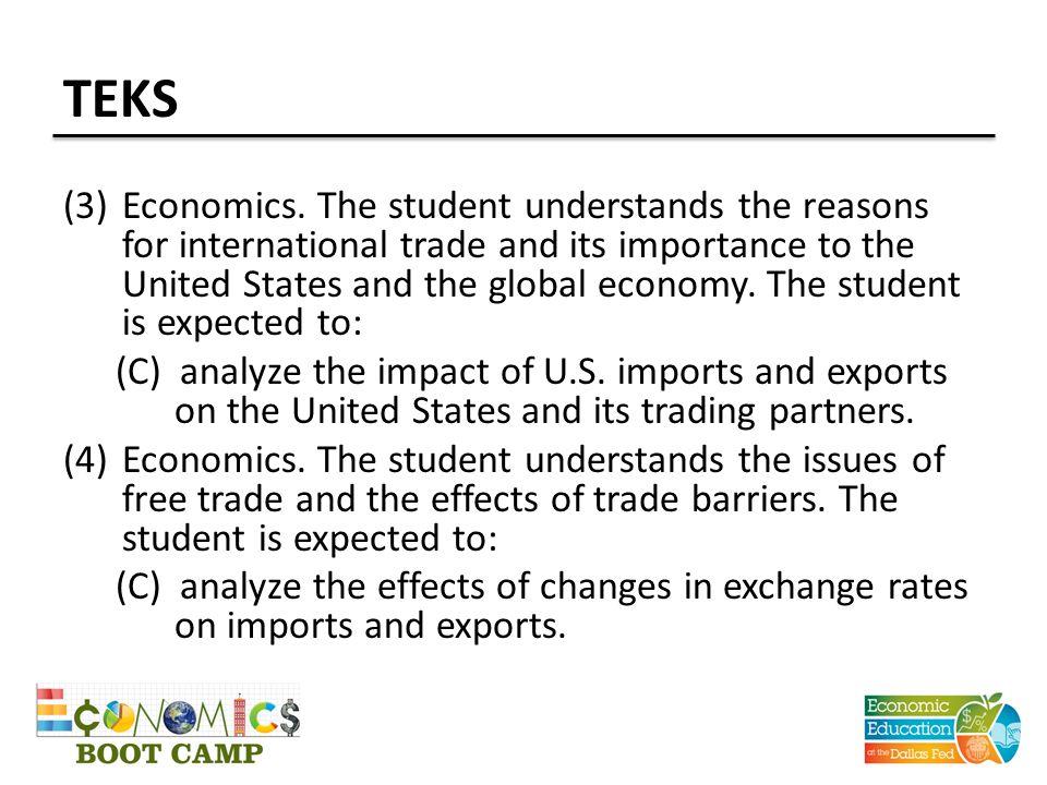 TEKS (3)Economics.