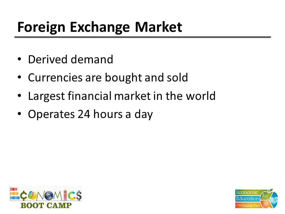 Exchange Rates in the Long Run Real exchange rate Rate at which the goods and services of one country can be exchanged for the goods and services of another country Real exchange rate = Dollar price of domestic goods Dollar price of foreign goods
