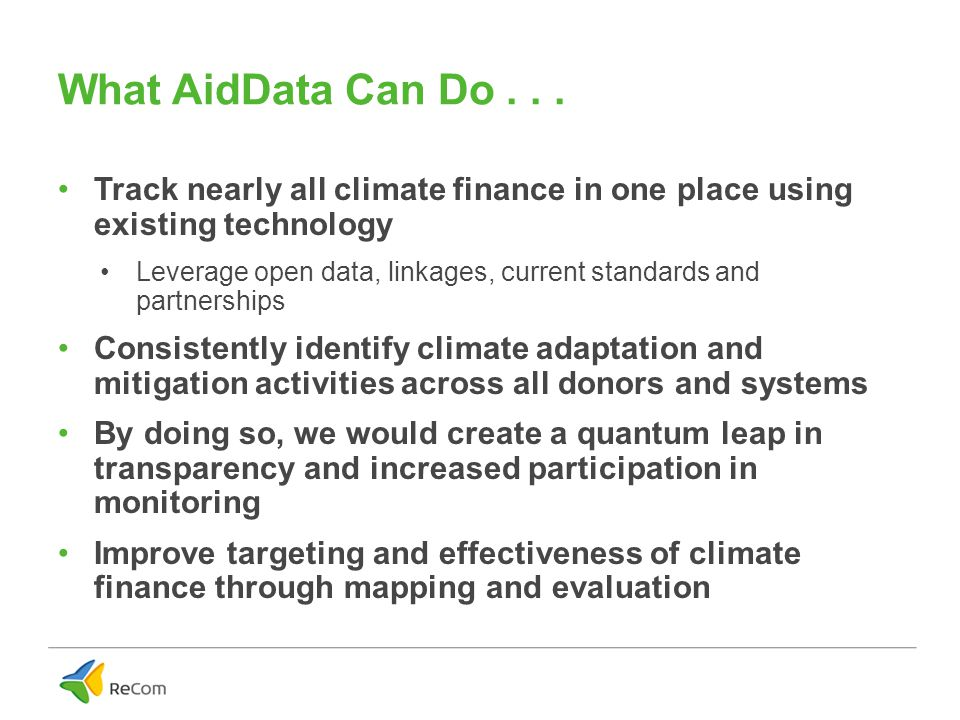 What AidData Can Do...