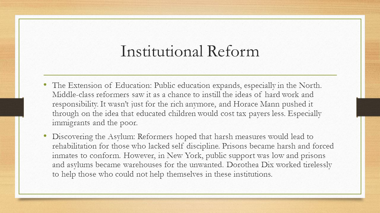 Reform Turns Radical Radical perfectionists get tired of waiting for moderate reformers to pull the trigger on things.