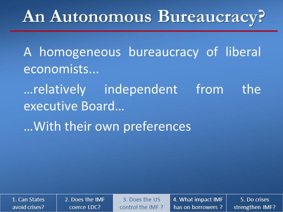 A homogeneous bureaucracy of liberal economists...