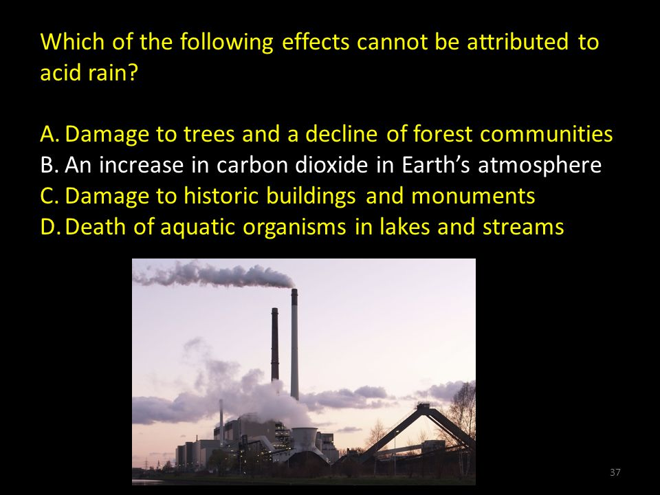 Which of the following effects cannot be attributed to acid rain.