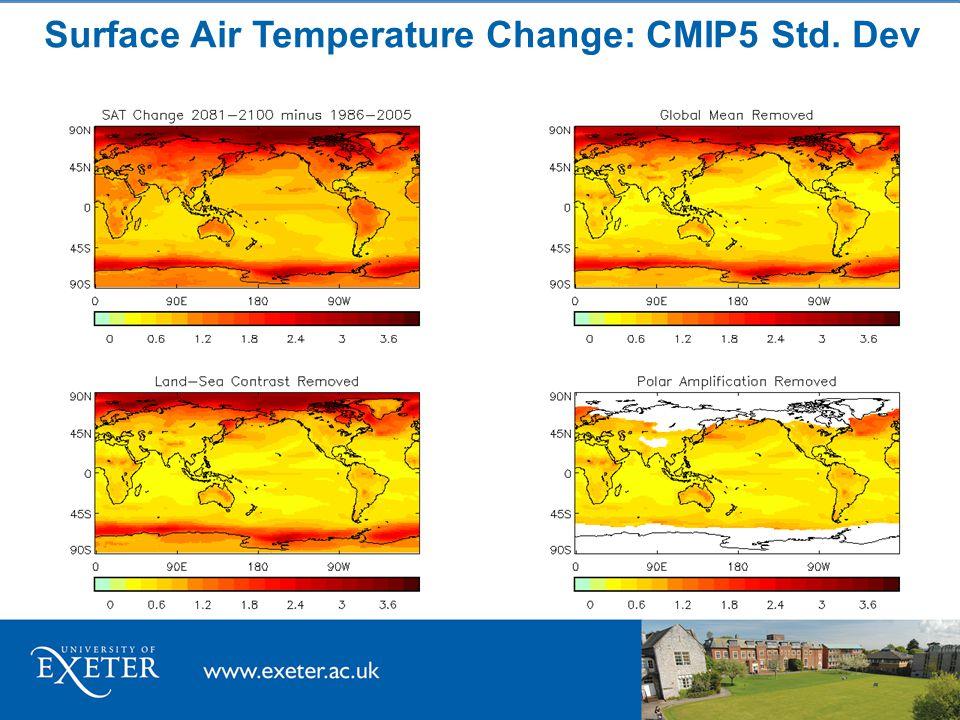Surface Air Temperature Change: CMIP5 Std. Dev