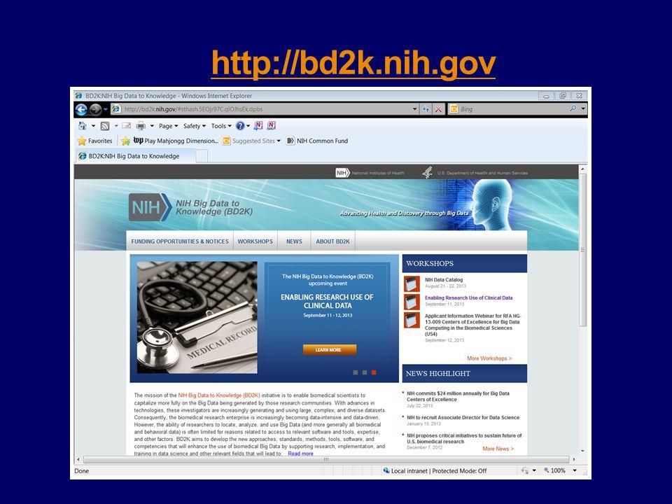 http://bd2k.nih.gov