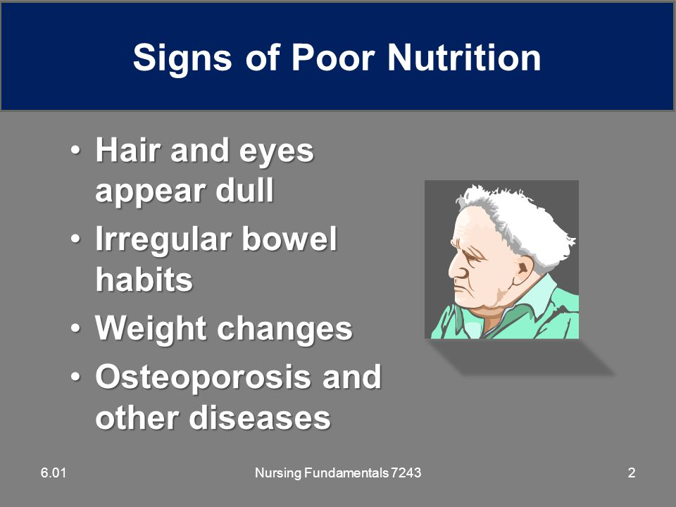 Nursing Fundamentals 7243336.01 Low-Fat/Low-Cholesterol Diets Residents with high levels of cholesterol, gall bladder disease, diseases that interfere with fat digestion, and liver disease may be placed on these diets.Residents with high levels of cholesterol, gall bladder disease, diseases that interfere with fat digestion, and liver disease may be placed on these diets.