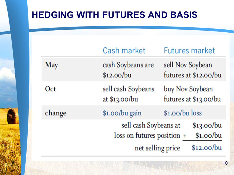 HEDGING WITH FUTURES AND BASIS 10