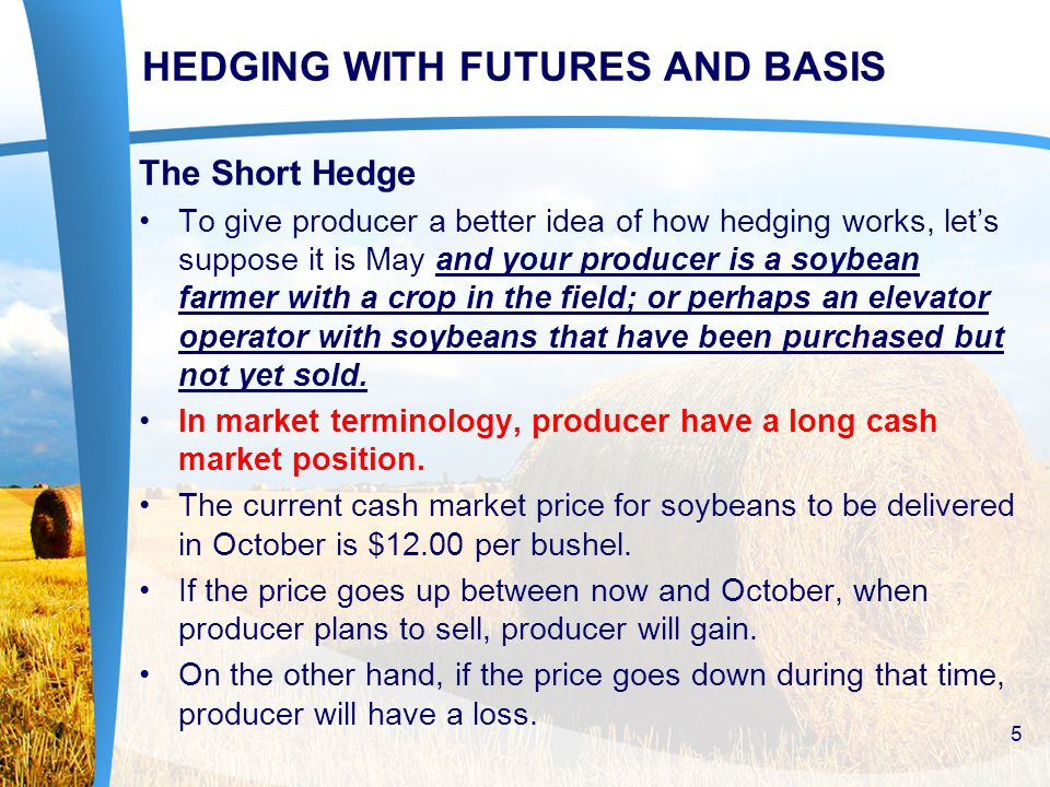 OPTION HEDGING STRATEGIES FOR SELLING COMMODITIES If the March futures price increases anytime before expiration, you can sell back the call for its current premium, and your net profit is the difference between the premium you paid for buying the March call and the premium received for selling (offsetting) the March call.