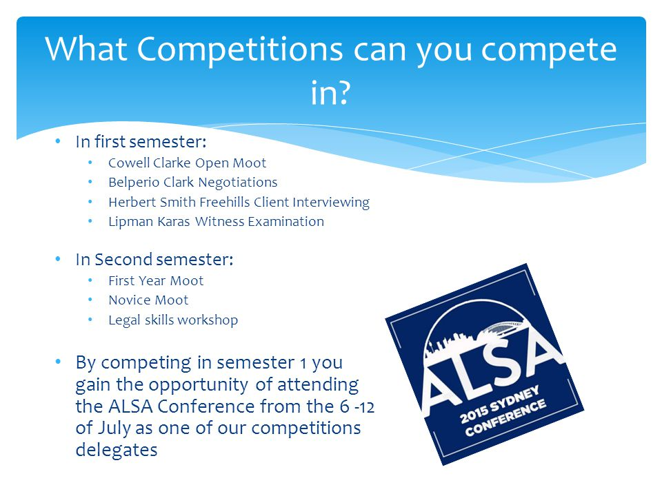 What Competitions can you compete in.