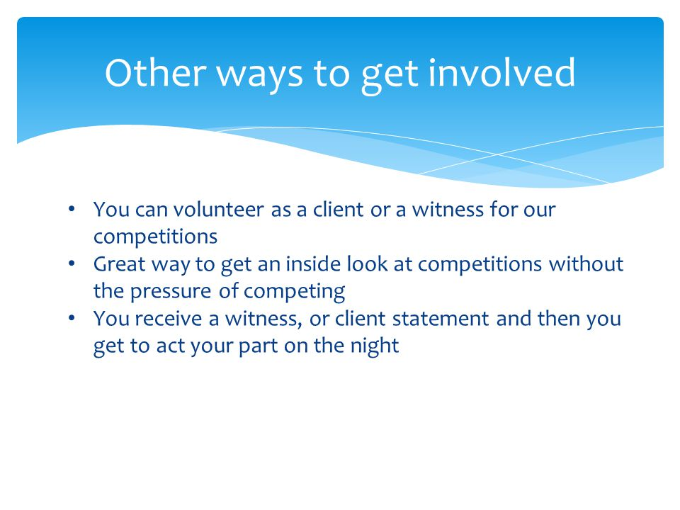 What is involved in each Competition.