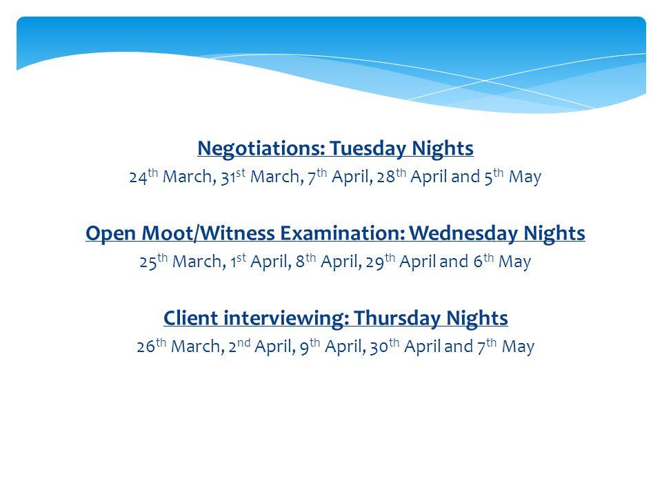 Comprehensive Preparation Seminars Next week the Competitions Team will be hosting a week of preparation seminars.