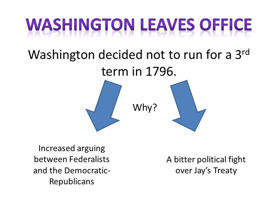 Adams received 71 electoral votes Jefferson received 68 electoral votes Federalist Candidate John Adams D-R Candidate Thomas Jefferson