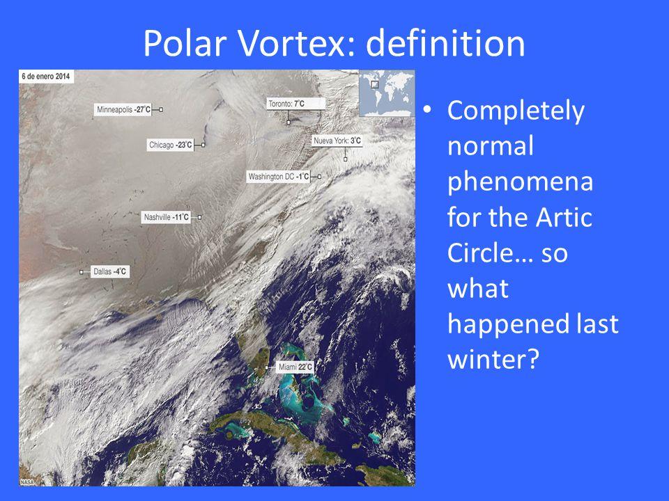 Polar Vortex 2013-2014 The bowl of soup got bumped.