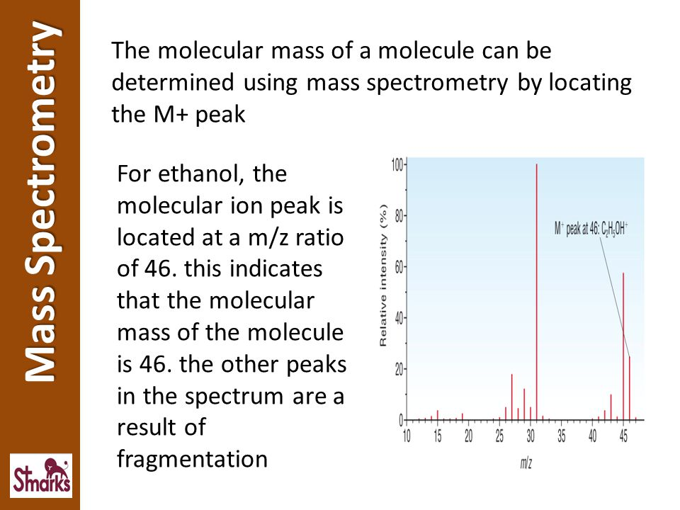 Mass spectrometry can be used to determine the structure of an unknown compound.