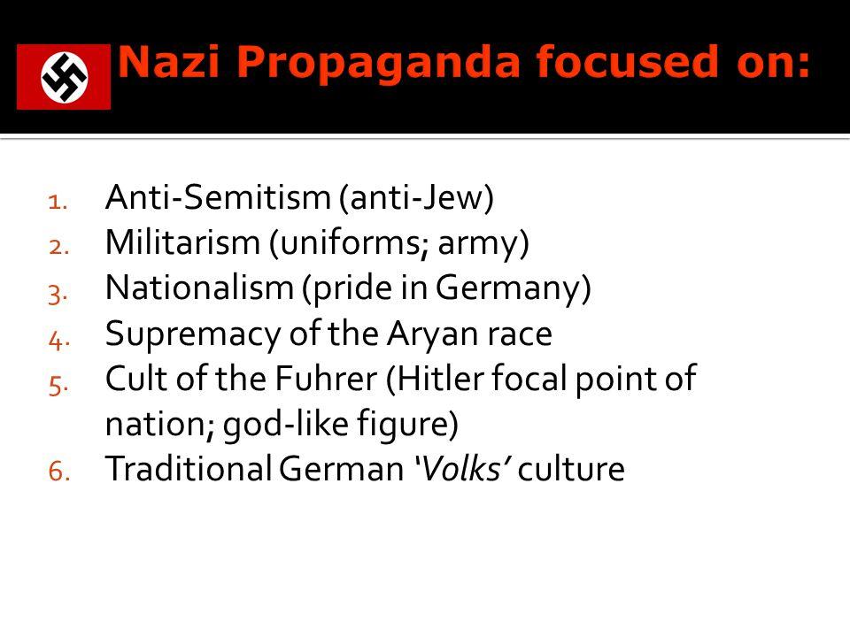 1. Anti-Semitism (anti-Jew) 2. Militarism (uniforms; army) 3.