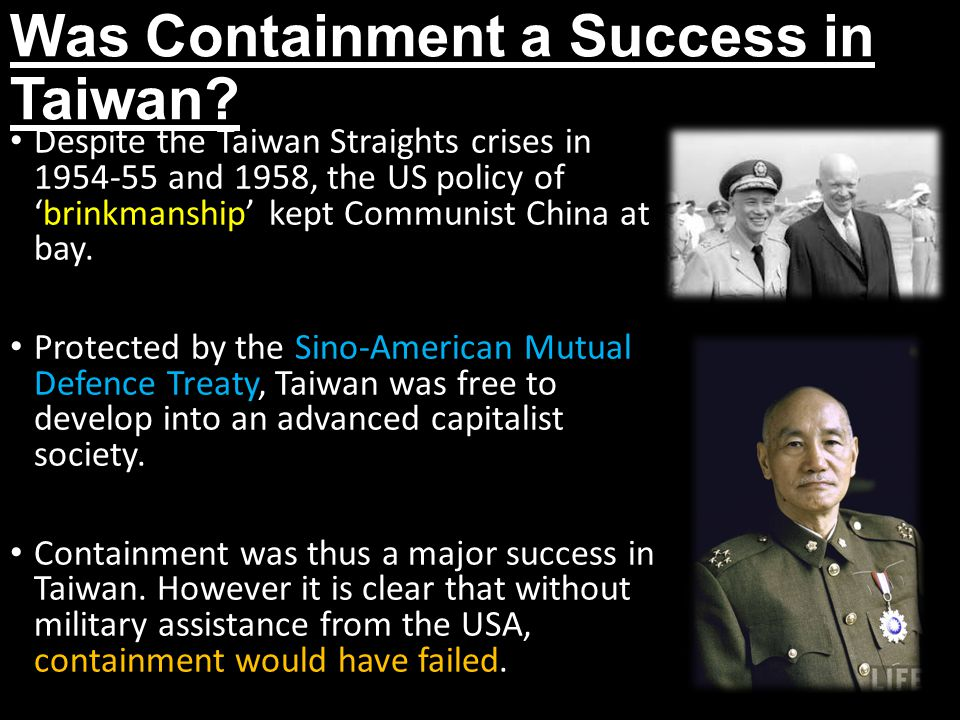 Was Containment a Success in Taiwan.