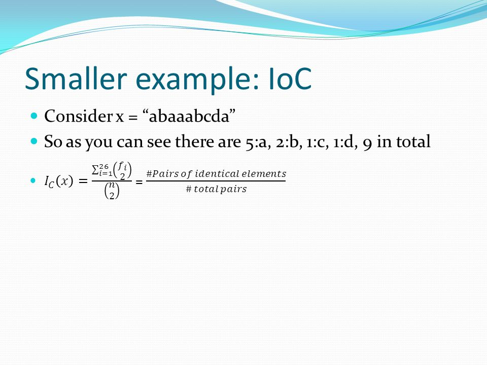 Smaller example: IoC