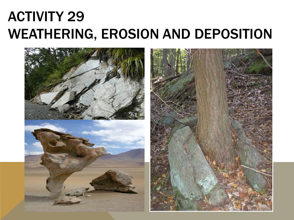 ACTIVITY 29 WEATHERING, EROSION AND DEPOSITION
