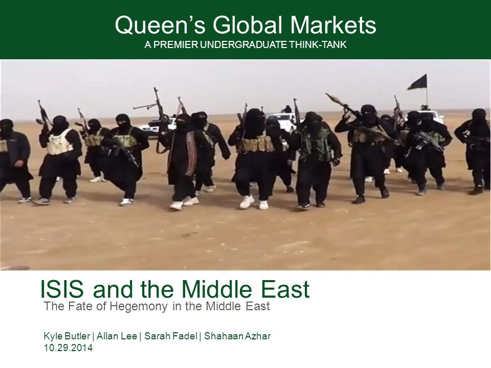 2 QGM Agenda 1.Religion and the War on Terror 2.Current ISIS Operations 3.Key Players: strategic interests in the Middle East 4.Conclusions & Predictions