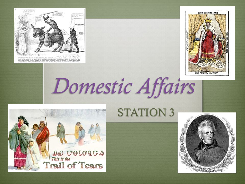 Domestic Affairs STATION 3
