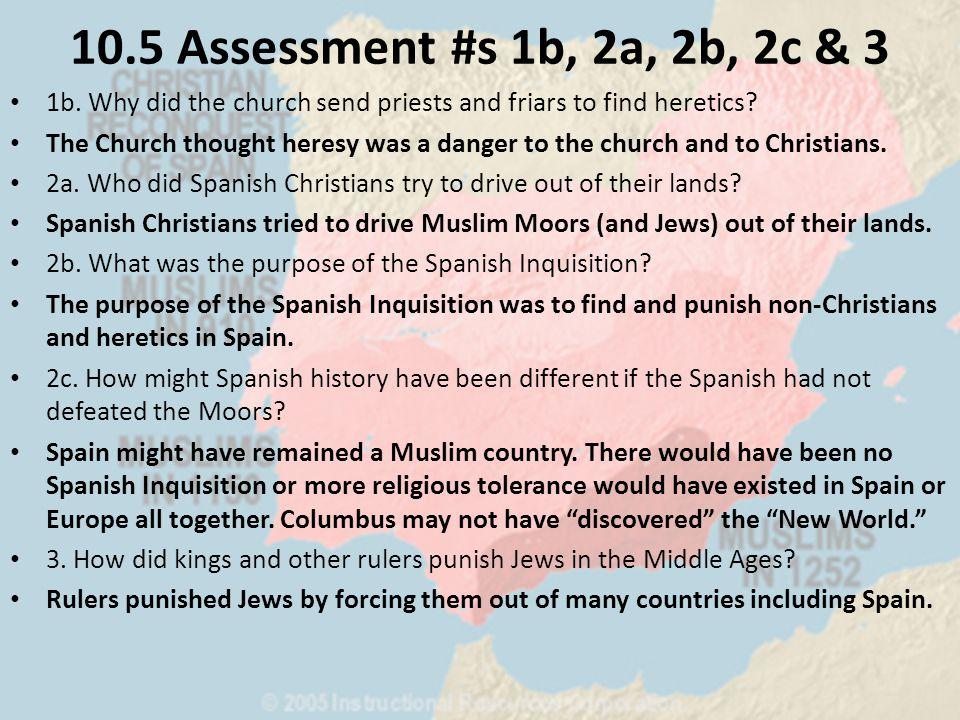 10.5 Assessment #s 1b, 2a, 2b, 2c & 3 1b.