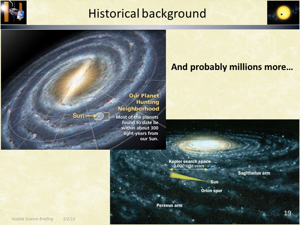 And probably millions more… Historical background Hubble Science Briefing 5/2/13 19