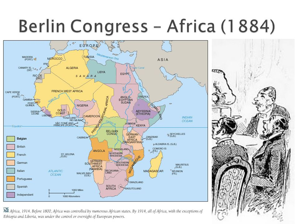  Divided the region of the Congo between Belgium and France  Congo River – area of free trade  Attempt to resolve European differences created over colonization in Africa  Established rules for creating new colonies in Africa ◦ European powers must occupy territory in order to claim territory  Created the Scramble for Africa