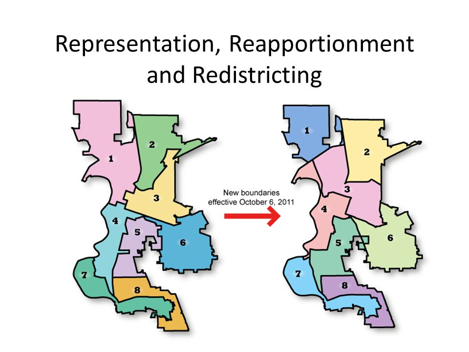 Representation, Reapportionment and Redistricting