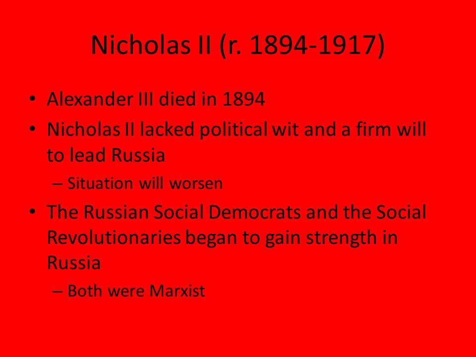 Nicholas II (r.