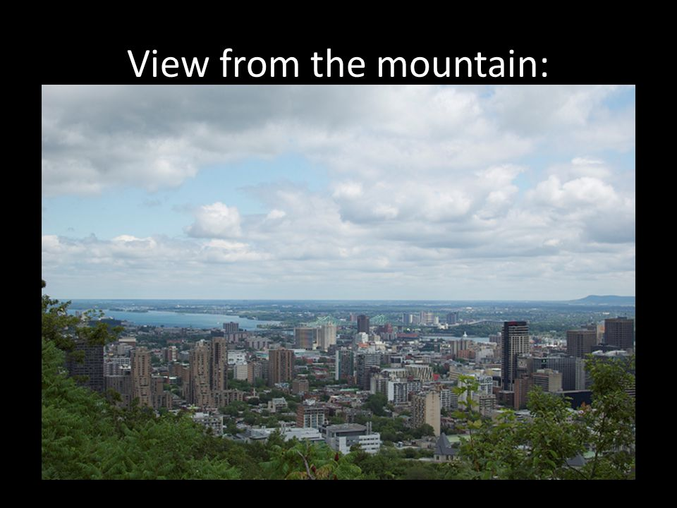 View from the mountain: