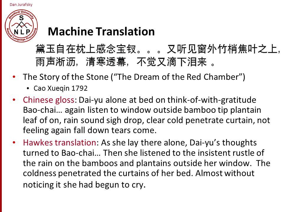 Machine Translation Three classical methods for MT