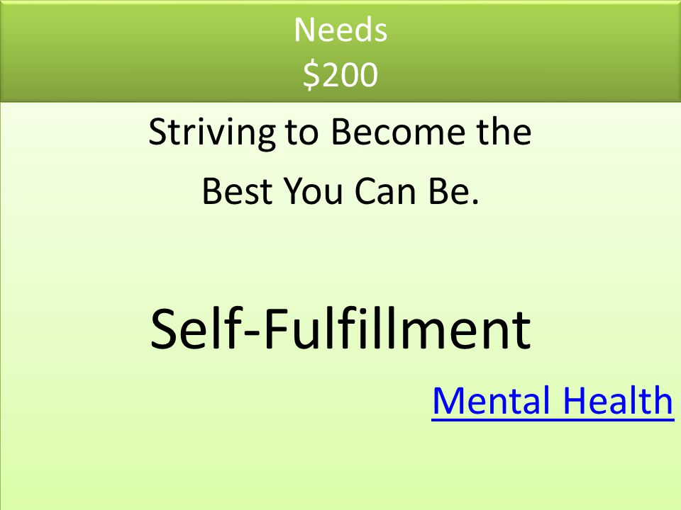 Needs $200 Striving to Become the Best You Can Be. Self-Fulfillment Mental Health Striving to Become the Best You Can Be. Self-Fulfillment Mental Heal